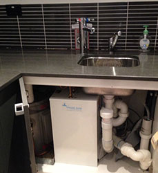 under bench water filter system