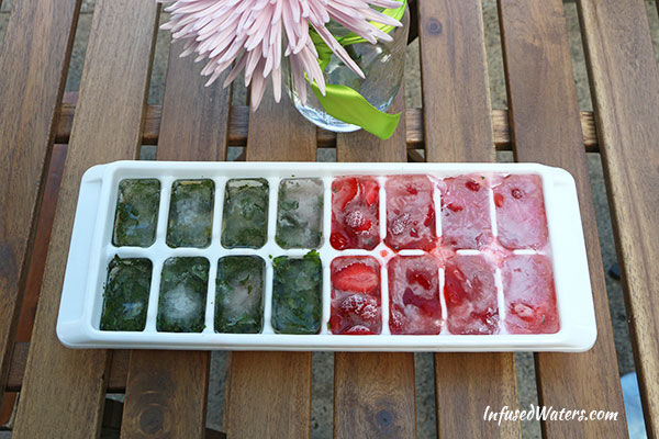 ice cube tray with water